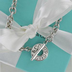Tiffany 1837 Toggle Circle Necklace Pouch & BOX